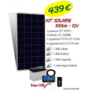 Kit Solaire 100WC